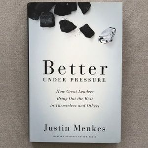 Better Under Pressure,autographed by Justin Menkes